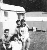 Dad, Mum, Gran and Grandpa McHardy and Sooty