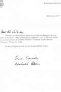 Reply from HRH Prince Philip