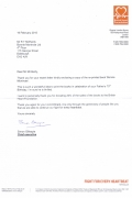 Simon Gillespie CEO of British Heart Foundation Reply