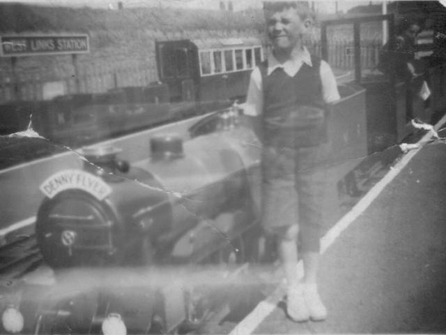Daddy at Kerr's Minature Railway Arbroath