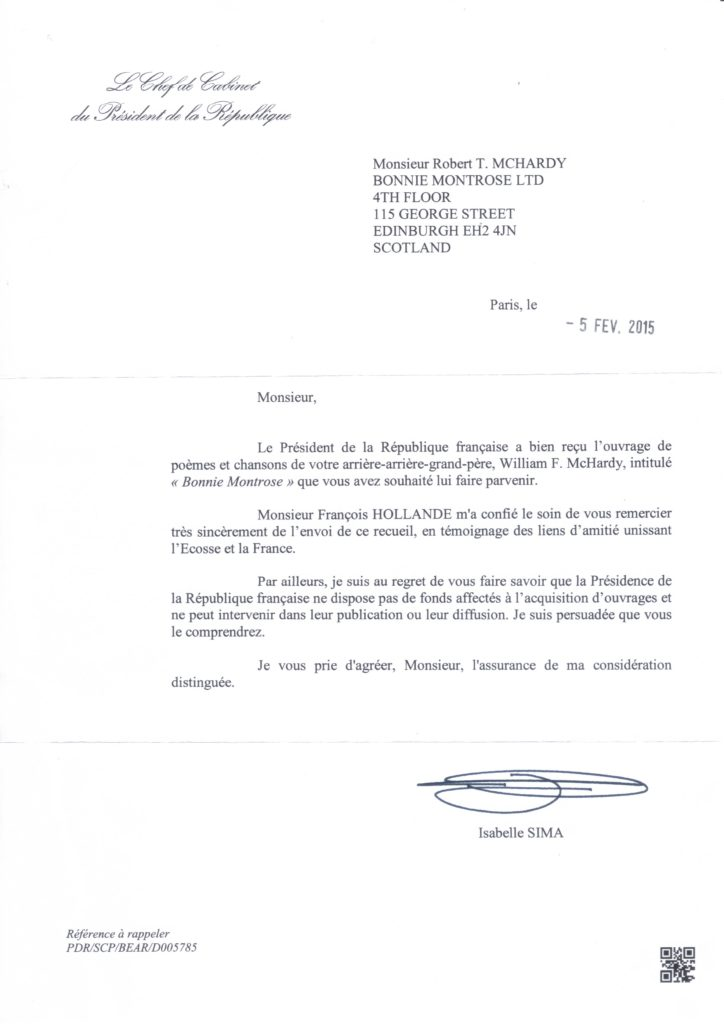 President_HOLLANDE_of_France_Reply