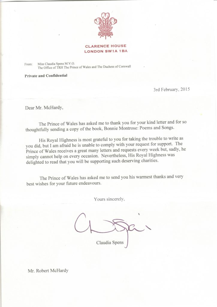 Prince of Wales Reply